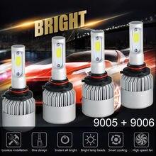 2Pcs H4 LED H7 H11 H8 HB4 H1 H3 9005 HB3 S2 32W 12000LM Acessórios Do Carro Lâmpadas Dos Faróis Do Carro 6500K 4300K 8000K levou luz de nevoeiro