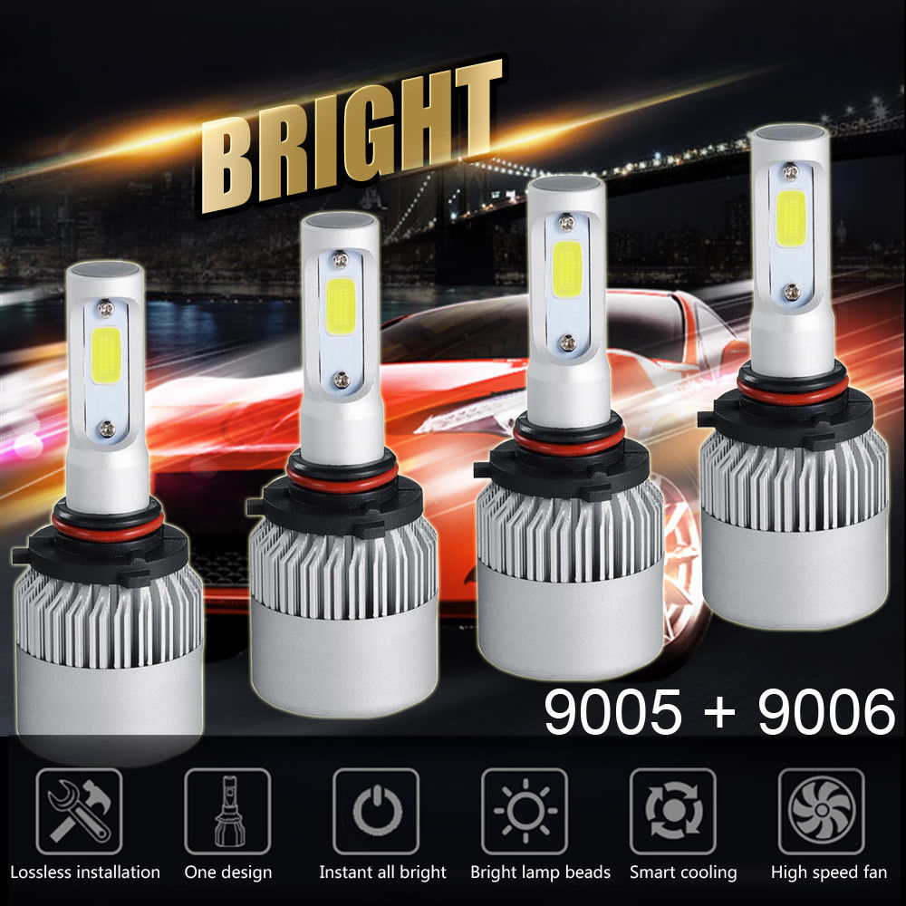2pcs Auto Car led Headlight 36W 12000LM Super Bright 3 Sides S2 LED HIR2 Led Bulbs Bullet Super Bright turbo Car Light led Lamp-in Car Headlight Bulbs(LED) from Automobiles & Motorcycles