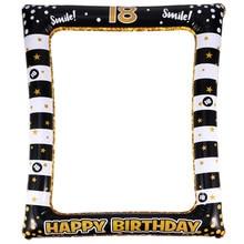 Marco de fotos inflable de cumpleaños, accesorios de fotos para Festival, suministros de fiesta para edad de 13/16/18/40/50/60/70, 1 ud.