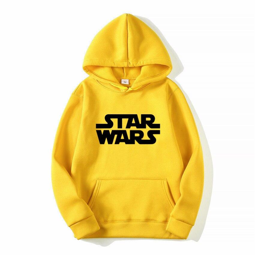 STAR WARS Derivative Hoodie Eye-catching Yellow Sweatshirts Fashion Orange Khaki Gray Pink Hoodie With Big Pocket Pullover Tops
