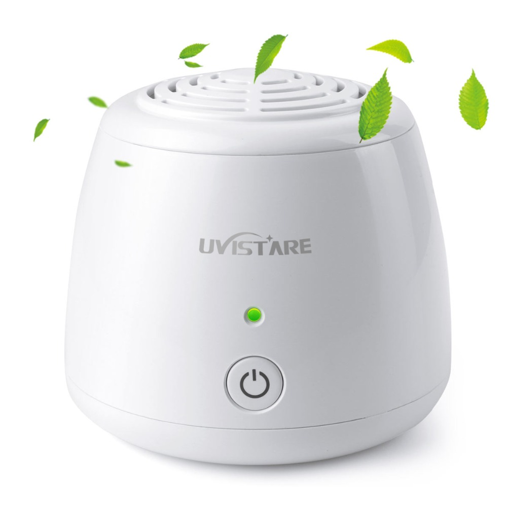 Home Portable Mini Air Purifier USB Cable & Battery Dual Power Air Cleaner Anion Ionizer Negative Ion Generator Ozone Generator
