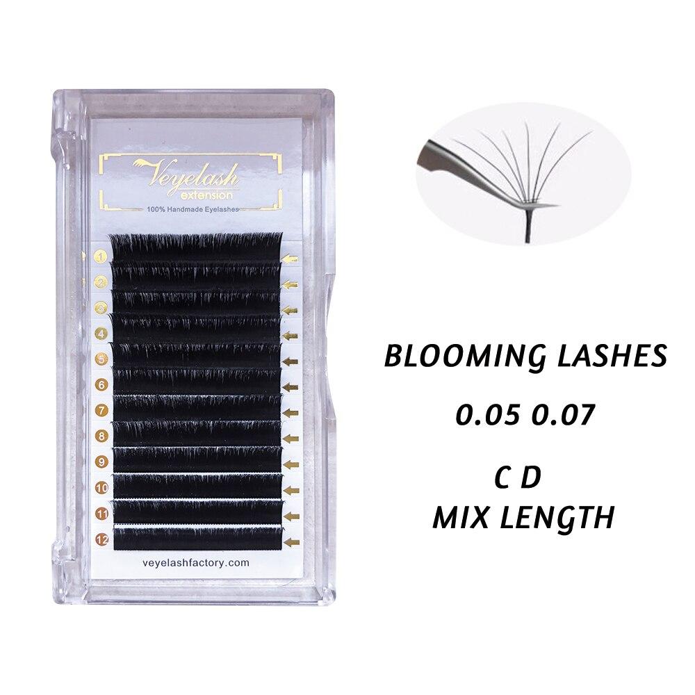 Viplash fácil volume ventilador cílios flor individual cílios extensão falso vison cílios grossos camélia natural cílios postiços