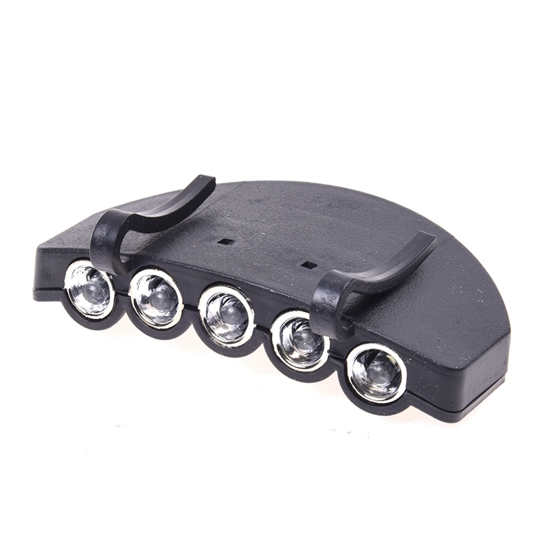 5 LED Head Cap Hat Clip Light Lamp Flashlight Hands Free For Bike Bicycle Hunting Fishing Camping Hiking Headlamp Headlight|Headlamps| |  - title=