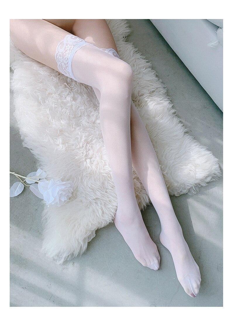 H8dce534edb924870a15b04d1b986be0b1 Lencería sexy ajustada para mujer, ropa interior de Liga porno, disfraces gran oferta, medias suaves de encaje hasta el muslo