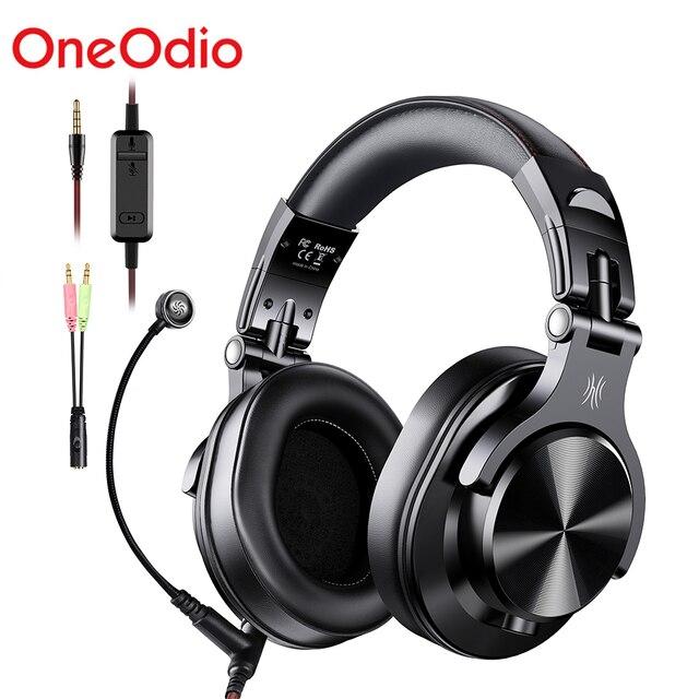 Oneodio A71 מקצועי DJ אוזניות עם מיקרופון נייד Wired אוזניות מוסיקה נעילת נתח אוזניות עבור צג