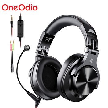 Oneodio A71 Professional DJ Headphones With Microphone Portable Wired Headset Music Share Lock Headphone For  Monitor oneodio wired professional studio pro dj headphones with microphone over ear hifi monitors music headset earphone for phone pc