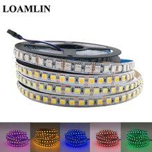 5050 RGB LED Strip DC12V 120LEDs/m Flexible Tape Light Warm White Cold White Ice Blue Pink Golden Yellow Red Green LED Strip недорого
