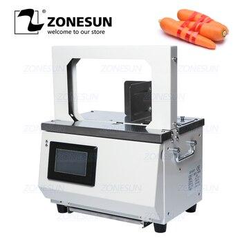Empacadora automática de vegetales de supermercado de fusión en caliente Opp ZONESUN para cinta de comida salchicha
