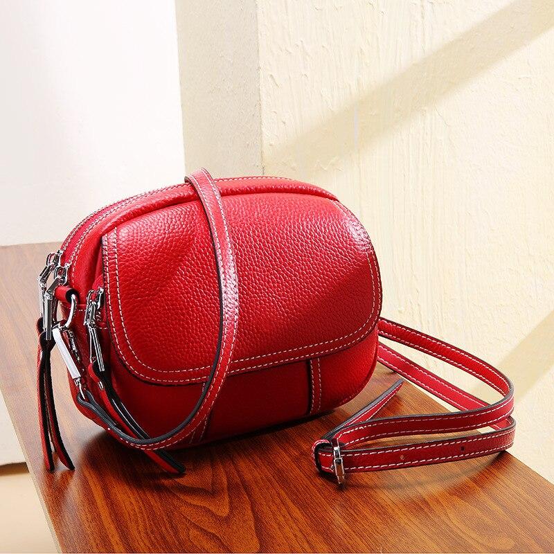 2019 новая женская сумка, модная мини кожаная женская сумка Baitie, маленькая круглая сумка из коровьей кожи, сумка на одно плечо - 3