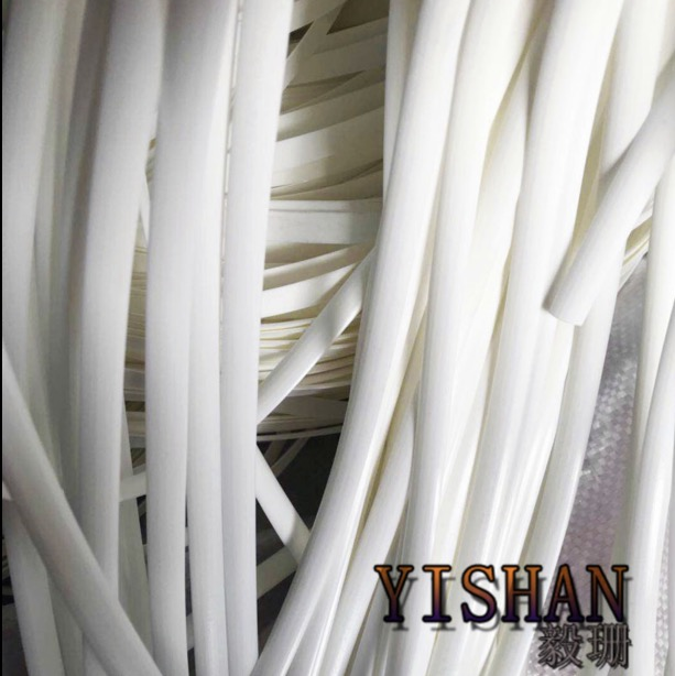 70Meters(500g)  Width:8mm White Gradient Flat Synthetic Rattan Weaving Material Plastic Knit Repair Chair Table PE Rattan