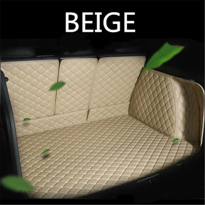Custom leather Car Trunk Mats For TOYOTA Land Cruiser prado 120 150 Mark X Premio Reiz Sienna Fortuner Kluger Rear Floor Mat
