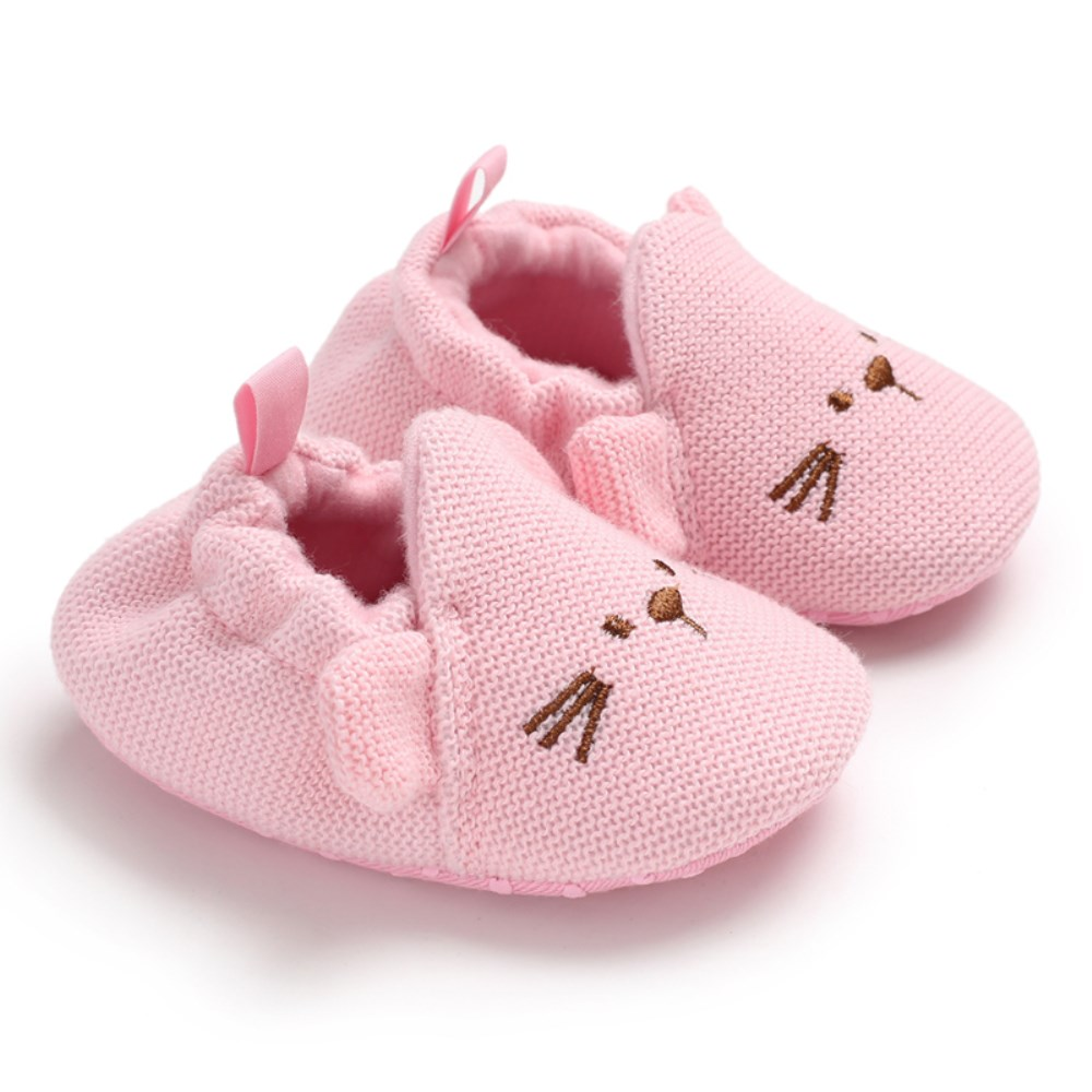 Newborn Infant Baby Kids Cute Shoes Girl Toddler Soft Sole Crib Shoes Prewalker Moccasin Soft Crib Shoes 0-24M