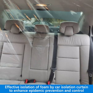 Car Anti-Epidemic Ordinary Layout Operation Conveninently Partition Screen Protection Film for Uber Taxi Driver 1.4x1.8m(China)