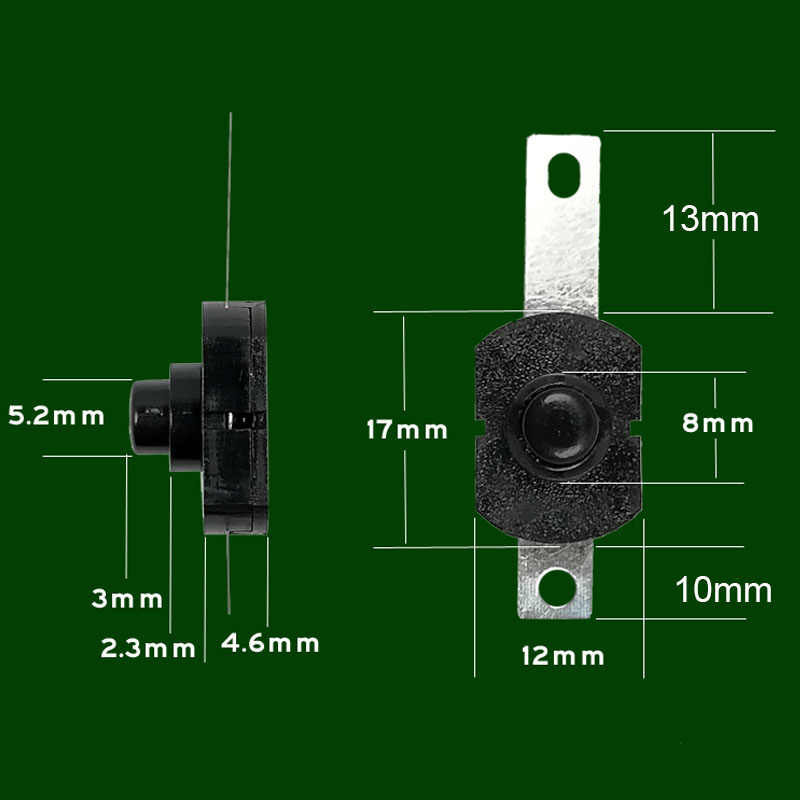3 pcs פנס DIY תיקון מתג כפתור חלק התיכון נחושת מתג עבור C8 S5 C84 18650 26650 Q5 T6 L2 led לפיד פנס