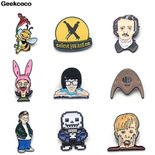 Geekcoco Fashion Enamel Pin Cute Collection Brooches Art Lapel Pins Backpack Badge Collar Jewelry RK0011 geekcoco fashion enamel pin cartoon anime collection brooches art lapel pins backpack badge collar jewelry rk0028