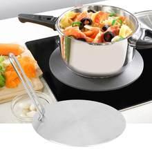 20cm de aço inoxidável difusor calor placa indução adaptador conversor gás fogão elétrico placa kichen acessórios cozinhar ferramenta