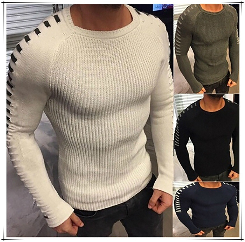 Christmas Sweater Men Computer Knitted Pullovers Solid Merry Christmas Clothing Korean Clothes 2018 Plus Size Sweaters