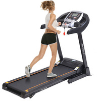 ANCHEER 2.25hp Electric Treadmill Folding Electric Running Training Machine Fitness Treadmill Gym Home Sport Fitness Equipment