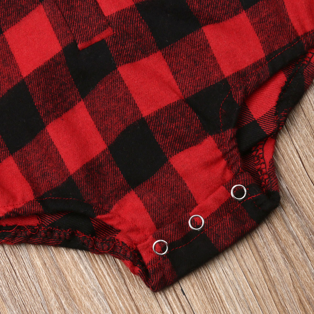 H8dcf1659e224488997641e4bf9de2732l Pudcoco Baby Girls And Boys Unisex Clothes Christmas Plaid Rompers Newborn Baby 0-18 Monthes Fits One Piece Suit Cartoon Elk New