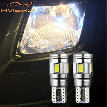 2X White Auto Car Turn Signal Side Lamp T10 Canbus 194 W5W License Plate Light Trunk Led No Error Parking LED Dome Reading Light 2pcs white t10 wedge light 194 168 6w cob led car canbus no error side signal lamp bulb auto reading number plate lights