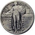 США 1920S стоящая свобода четверть Посеребренная КОПИЯ монета