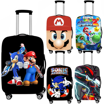 Cartoon Mario Smash Bro / Sonic Luggage Cover Elastic Anti-dust Suitcase Covers Travel Accessories Trolley Case Covers