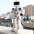 Água dirigindo dança rc robô com música inglês controle remoto inteligente figuras de ação brinquedos para crianças presente