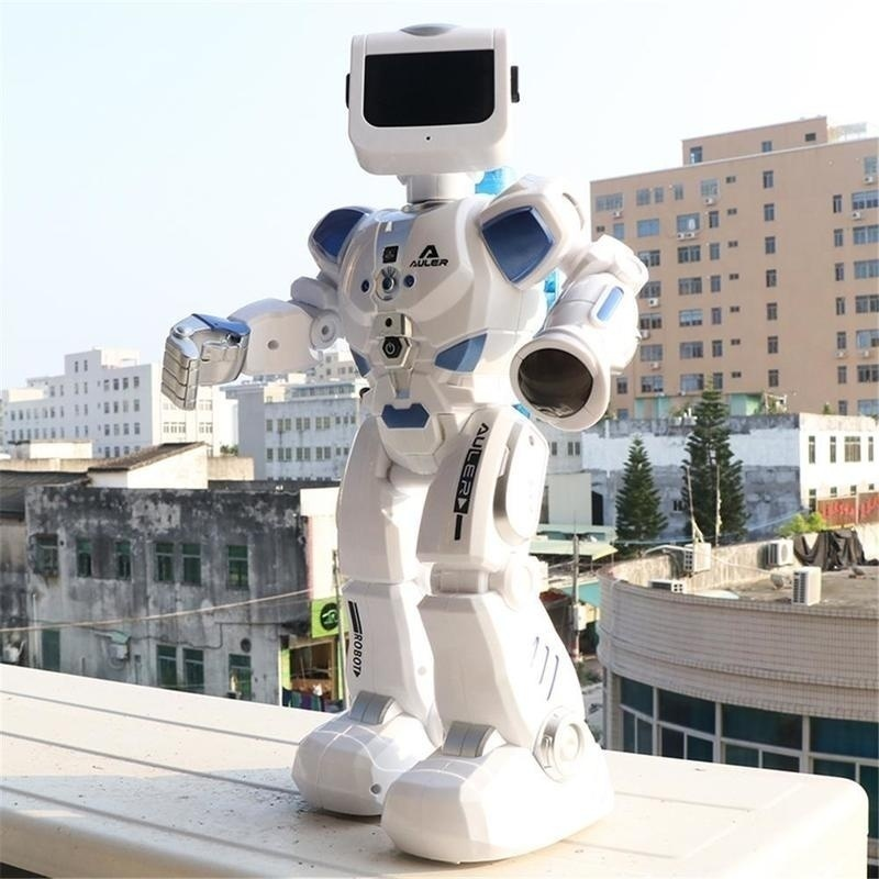 Водное Вождение Танцы RC робот с английской музыкой интеллектуальный пульт дистанционного управления Фигурки игрушки для детей Детский под