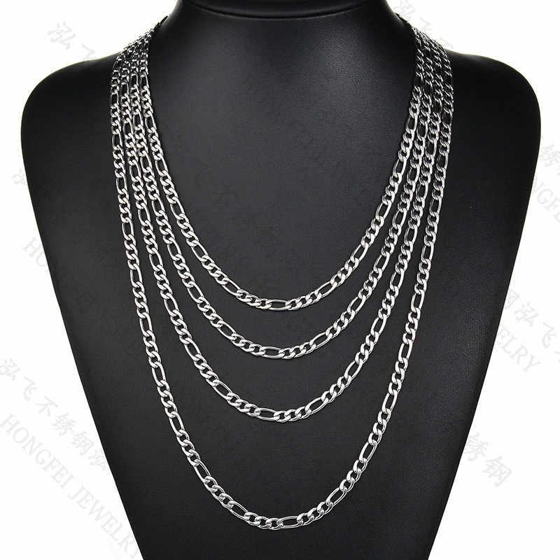 1 Pc Rvs Ketting Voor Mannen Tarwe Link Chain 3/4/5/7/mm Mannen's Sieraden Groothandel Dropship