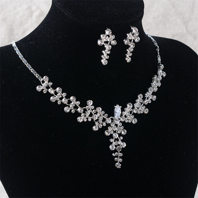 CC Necklace Stud Earring Set Pendant Jewelry Sets Wedding Accessories For Women Bridal Long Necklaces Bijoux Fine Gift TL249
