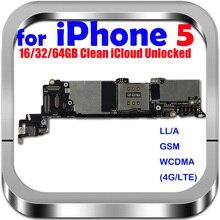 100% Original débloqué pour iphone 5 carte mère pour iphone 5 cartes logiques avec système IOS, livraison gratuite