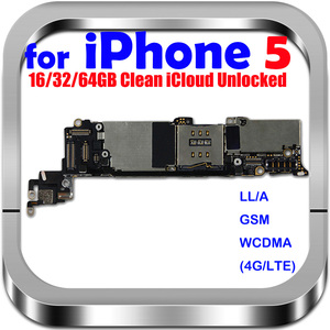 Image 1 - 100% Original unlocked for iphone 5 Motherboard for iphone 5 Logic boards with IOS System, Free Shipping