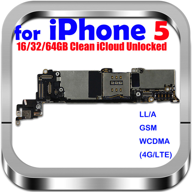 Placa base desbloqueada para iphone 5, 100% Original, con Sistema IOS, envío gratis