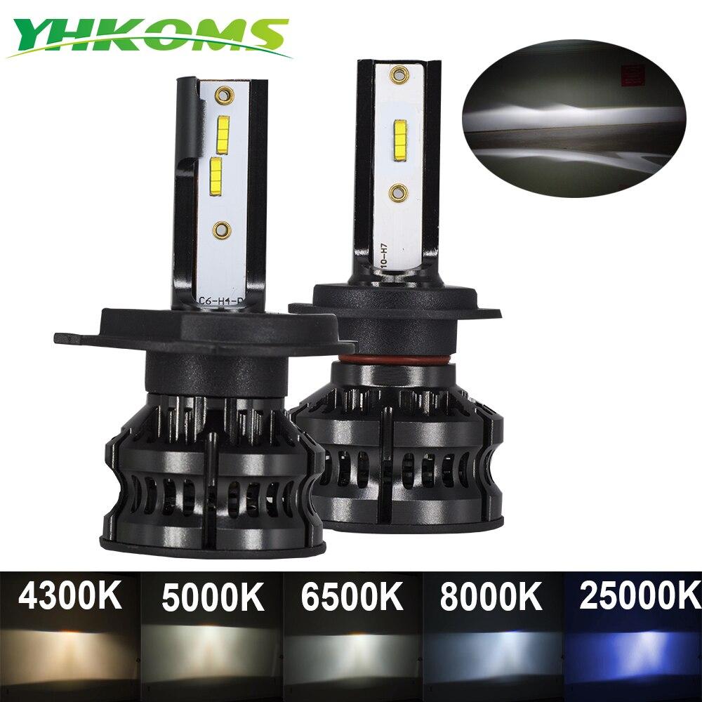 Автомобильная светодиодсветильник лампа YHKOMS 110 Вт 9006 лм H4 H7 H11 H1 светодиодный 8 H9 4300 6500K 8000K 10000K