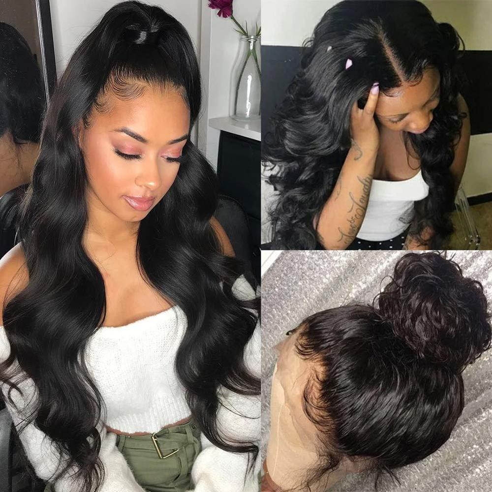 180% Density Body Wave Silk Base Wigs With Baby Hair Pre Plucked Silk Top Lace Front Human Hair Wig Brazilian Remy Hair Winter