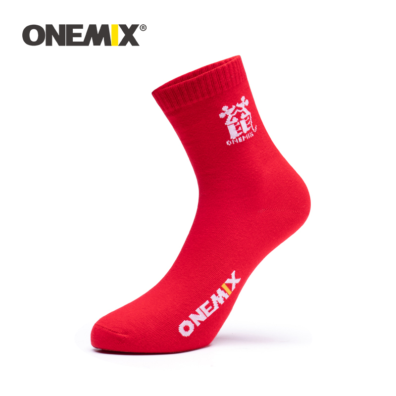 ONEMIX 2020 New Arrival Red Sport Socks High Quality Cotton Breathable Road Bicycle Socks Outdoor Sports Racing Cycling Sock