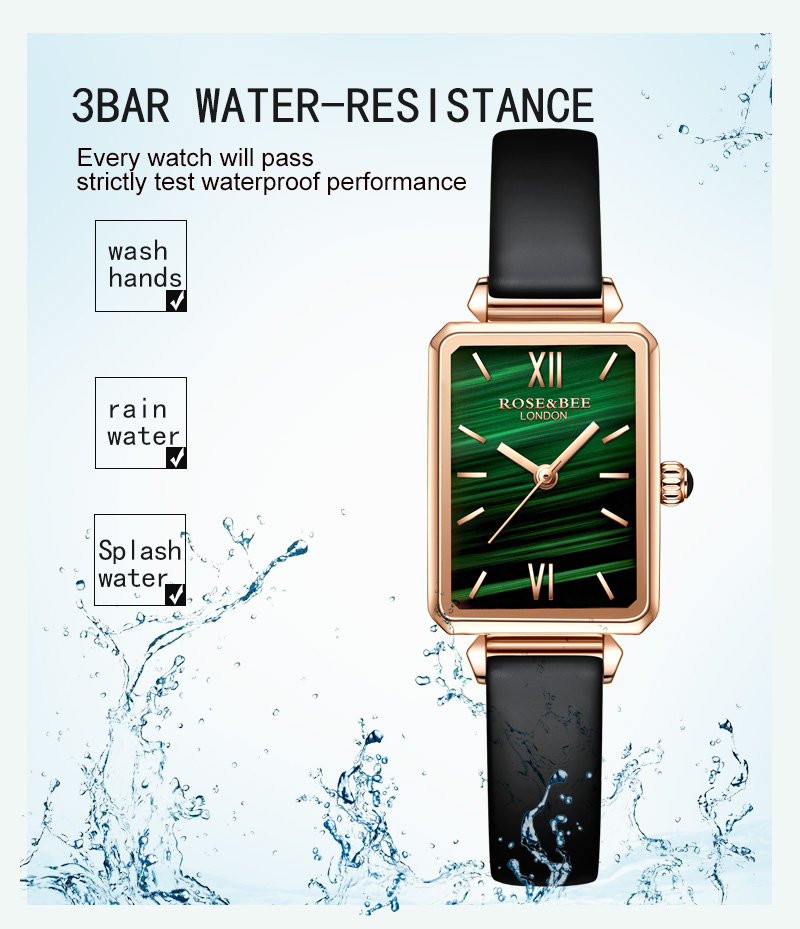 Green Malachite Rose Gold women Watches