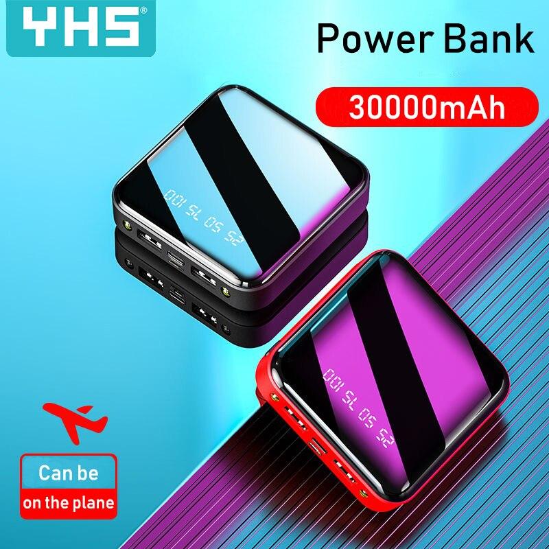 Image 5 - Mi ni 30000mAh batterie externe pour iPhone 8 XS Xiao mi Powerbank chargeur de banque Portable 2 Ports Usb batterie externeBatterie externe   -