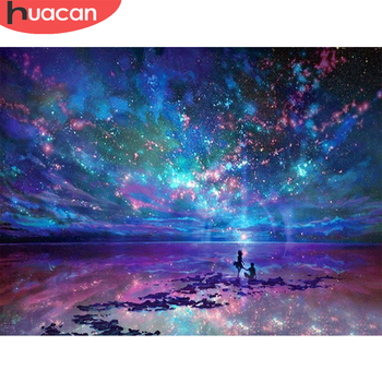 HUACAN 5D DIY Diamond Painting Full Drill Landscape Embroidery New Arrival Mosaic Home Decoration Gift - discount item  26% OFF Arts,Crafts & Sewing