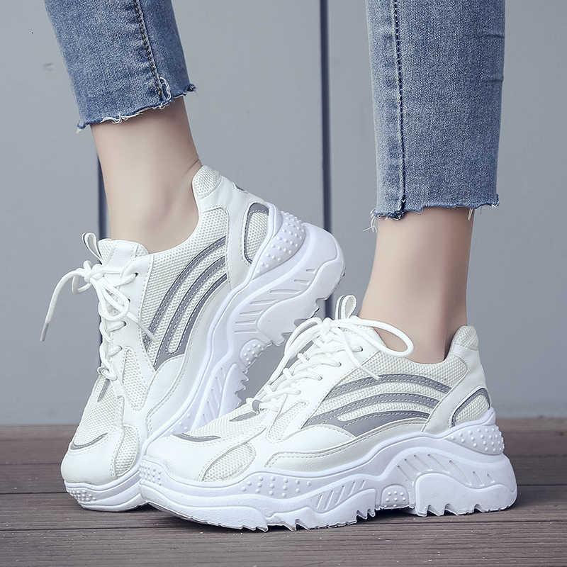 Womens White Sneakers Platform Fashion
