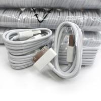 10 unids/lote cargador Cable para Apple iPod Mini iPad 3 2 iPod Nano Touch 30Pin de carga de Cable de datos para iPhone 4s 4 iphone 3G 3GS