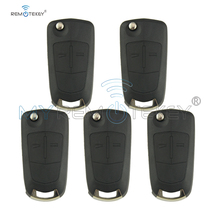 5pcs Remote Key Fob Case 2 Button HU100 For Vauxhall Opel Astra Vectra Zafira Signum Flip Car Key Shell Remtekey flip remote car key shell case 2 button for vauxhall opel corsa astra h zafira b vectra key cover remtekey