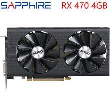 SAPPHIRE Video Karte RX 470 4GB 256Bit GDDR5 Grafiken Karten für AMD RX 400 serie VGA Karten RX470 DisplayPort 570 580 480 verwendet
