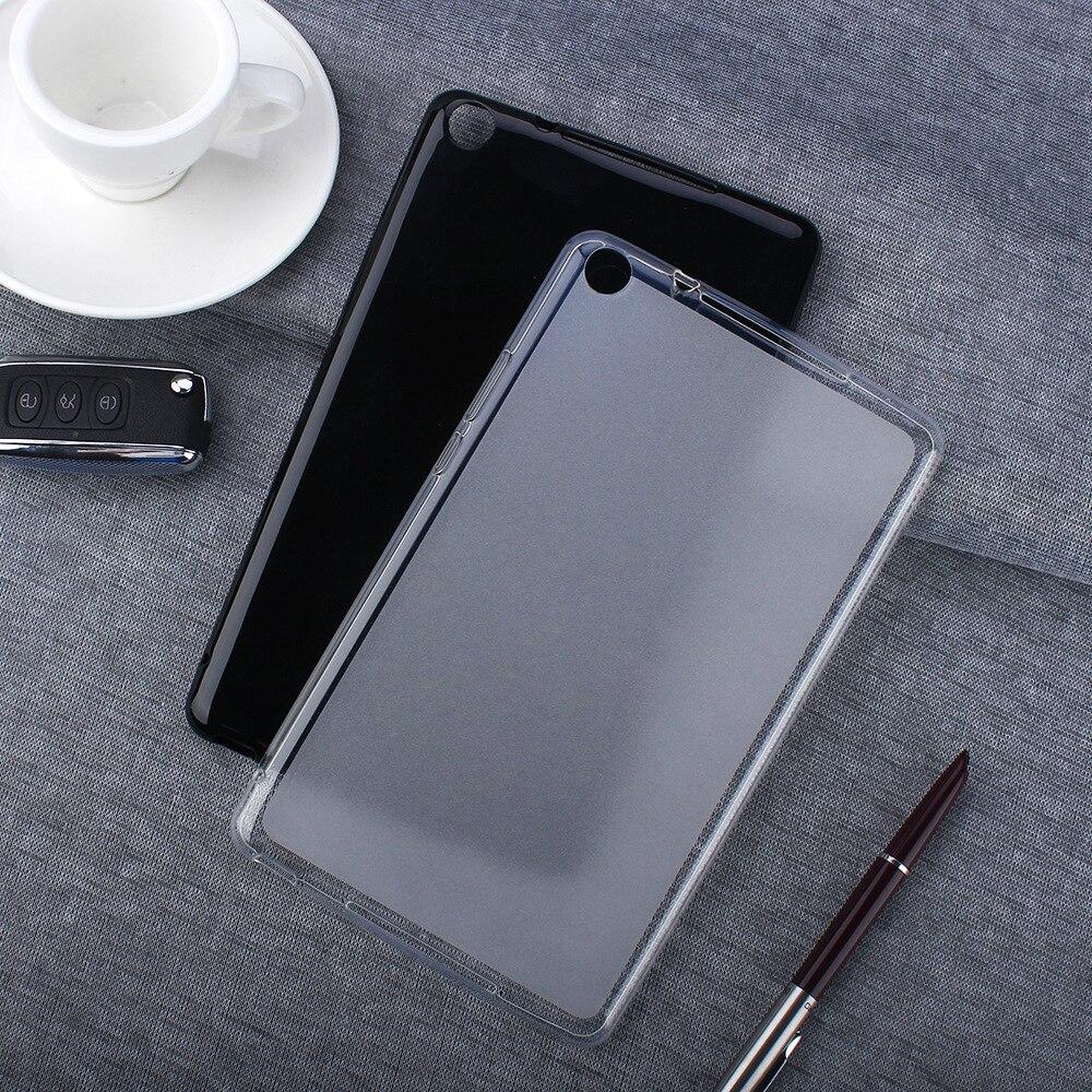 TPU Back Cover Case dla HUAWEI Honor MediaPad 5 T5 8 cali JDN2-W09 Tablet odporność na upadki miękki silikon czarny futerał ochronny