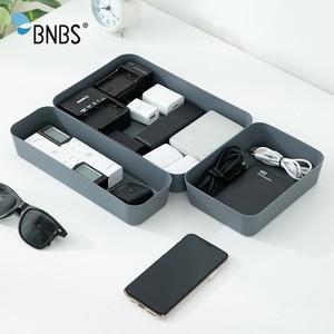 Image 5 - Ящик для хранения косметики, разделители для ящиков, органайзер для макияжа, пластиковые ящики, настольный канцелярский ящик для хранения данных и кабелей