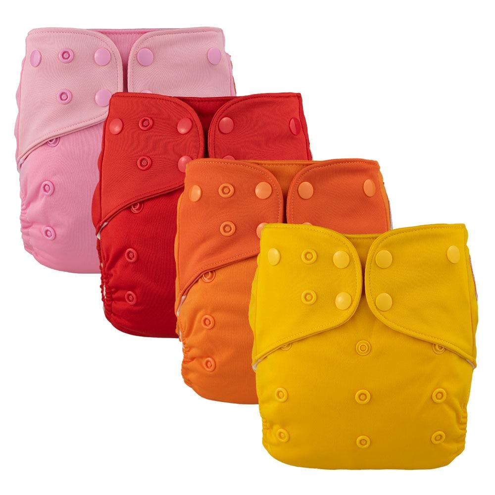 4 шт. Lichtbaby ткань детские карманные подгузники на возраст от 4 до 16 лет кг большой один размер моющиеся эко-friendlyPcs