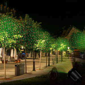 Image 4 - חיצוני נע מלאה שמיים כוכב לייזר מקרן נוף תאורה אדום & ירוק LED שלב אור מסיבת חג המולד גן אורות