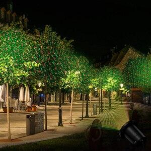 Image 4 - Proyector láser de estrella del cielo que se mueve al aire libre, iluminación de paisaje, luz LED roja y verde para escenario, luces de jardín para fiesta de navidad