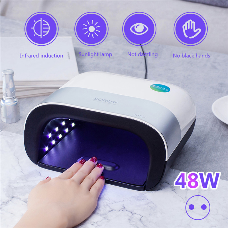 General Cargo Intelligent Induction Nail Light Therapy Machine Dryer 48w Dual Light Source Sun Lamp
