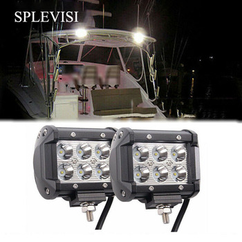 2x 12V 18W Spot LED Marine Spreader Light Yacht Marine Boat Stair Deck Mast Lamp Trailer Interior & Exterior Lighting 12v 30v dc 20w red marine boat spreader light led deck mast light flood light